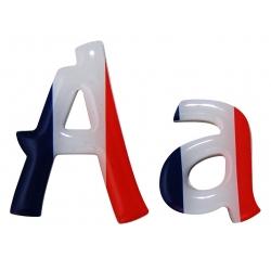 Lettre drapeau français bubblegum