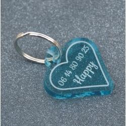 Médaille coeur bleu GM