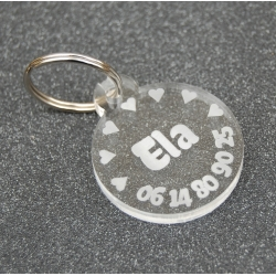 Médaille ronde petits coeurs GM