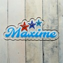 Plaque de porte prénom étoiles de mer