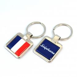 Porte clés personnalisé drapeau français