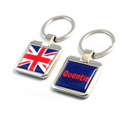 Porte clés personnalisé drapeau anglais