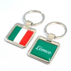 Porte clés métal drapeau italien