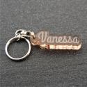 Porte clés prénom fumé bronze