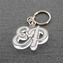 Porte clés initiales transparent