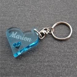 Porte clés personnalisé solo  fumé bleu