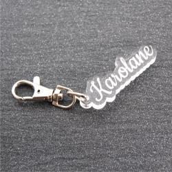 Porte clés prénom mousqueton