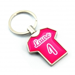 Porte clés métal maillot rose