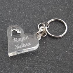 Porte clés personnalisé  duo