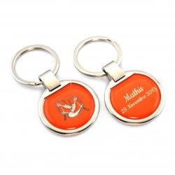 Porte clés naissance orange