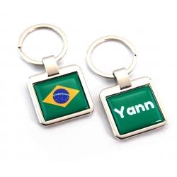 Porte clés personnalisé drapeau brésil