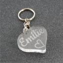 Porte clés personnalisé coeur