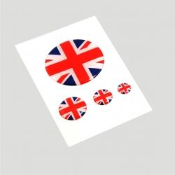 Mini stickers 3D drapeau anglais