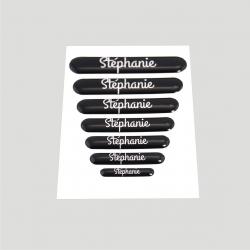 Mini stickers 3D prénom fond noir