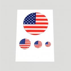 Mini stickers 3D drapeau américain