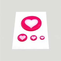 Mini stickers 3D coeur