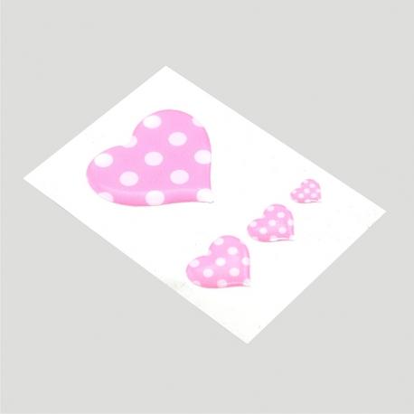 Mini stickers 3D petits coeurs
