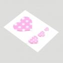 Mini stickers 3D petit coeur