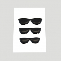 Mini stickers 3D lunette