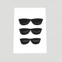 Mini stickers 3D lunette