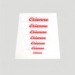Mini stickers 3D prénom fond blanc