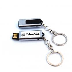 Clé USB rétractable 8GO tête de mort