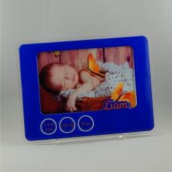 Cadre photo naissance bleu nuit