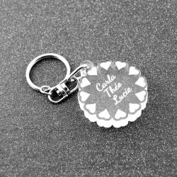 Porte clés fleur de coeurs