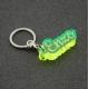 Porte clés prénom vert fluo