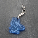 Zip basket bleu fluo