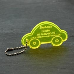 Etiquette voiture fluo jaune
