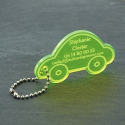 Etiquette voiture fluo vert