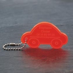 Etiquette voiture orange fluo