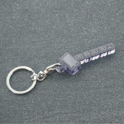 """Porte clés """"oups"""" phone fumé gris"""