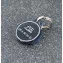 Médaille ronde fumé gris PM