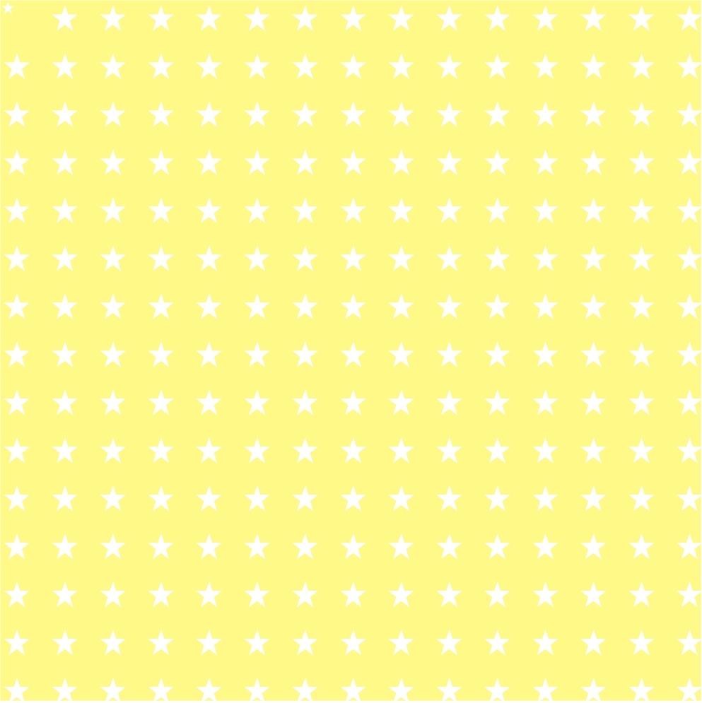 Etoile jaune pastel