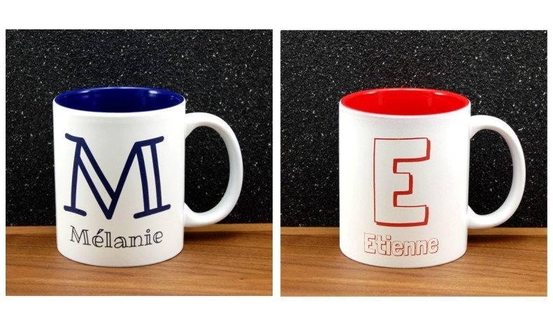 Personnalisez un mug initiale et prénom